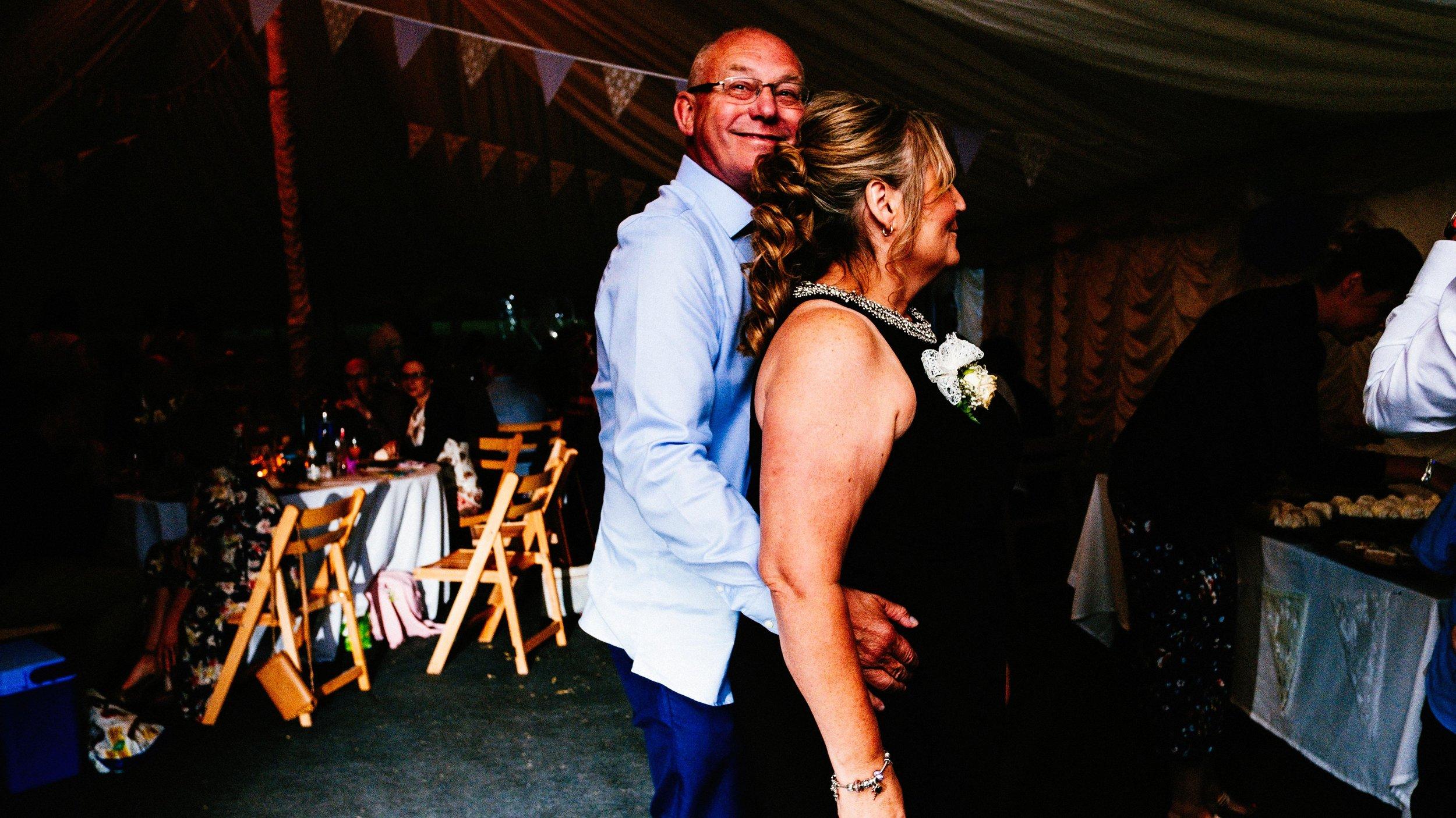 Wedding guests, Marquee wedding