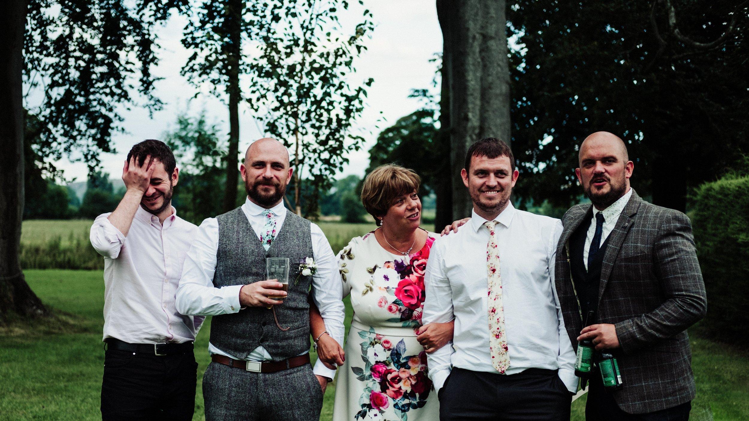 Group shot, not a group shot | Informal formals