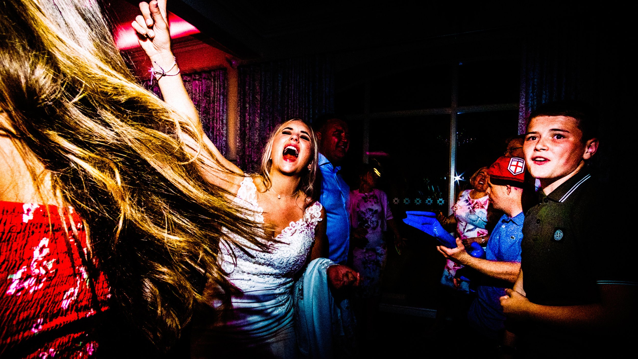 the best party wedding photographer at merrydale manor