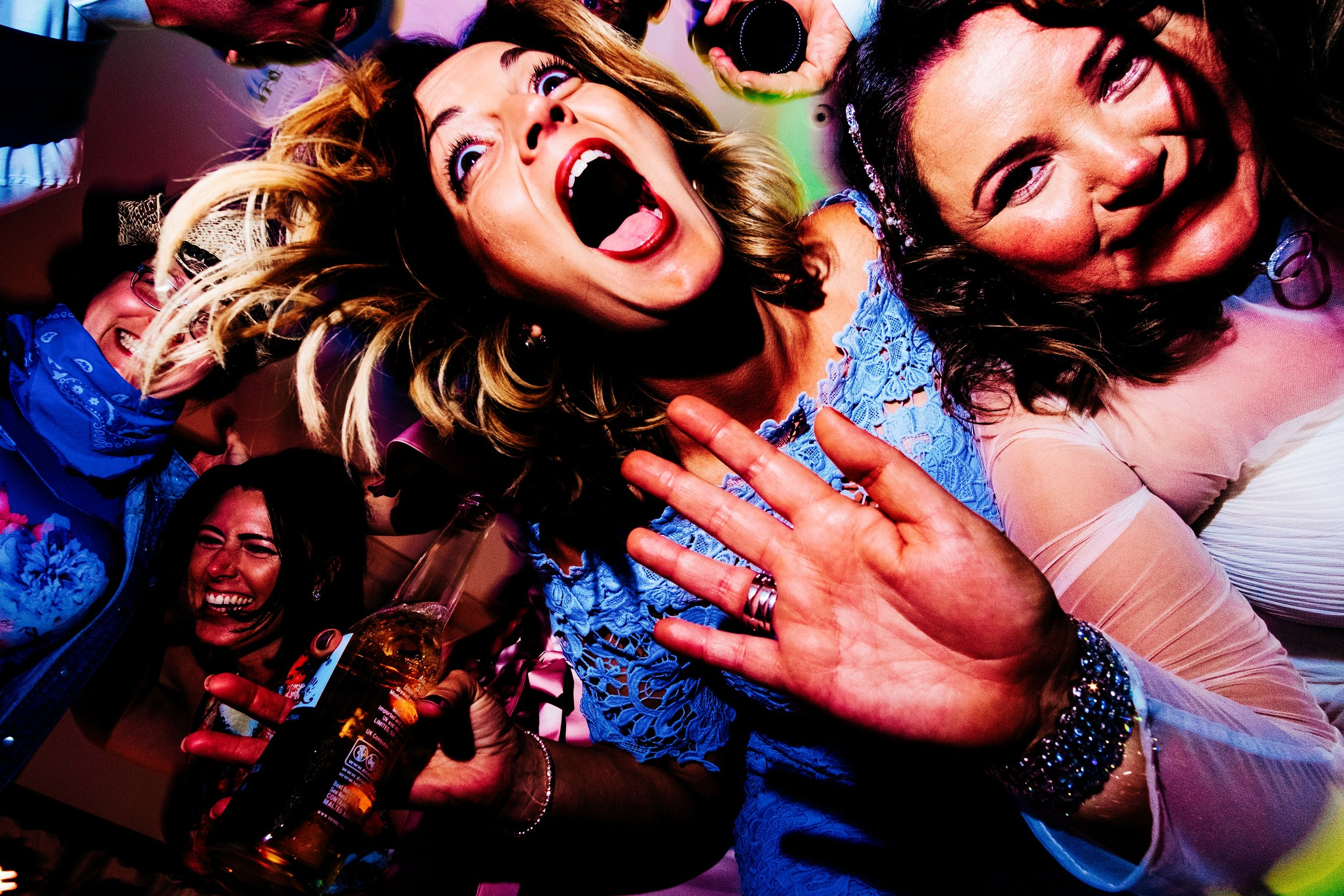 a crazy wedding party in liverpool by relaxed cheshire wedding photographer bomknights