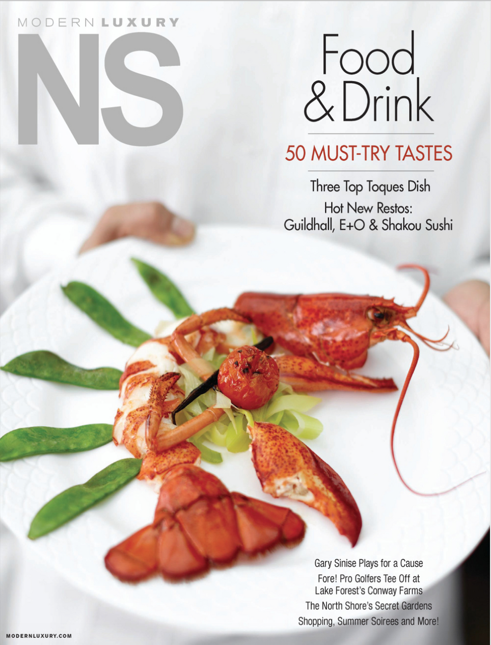 Froggy's Signature Lobster in Vanilla Sauce on the cover of  NS Magazine