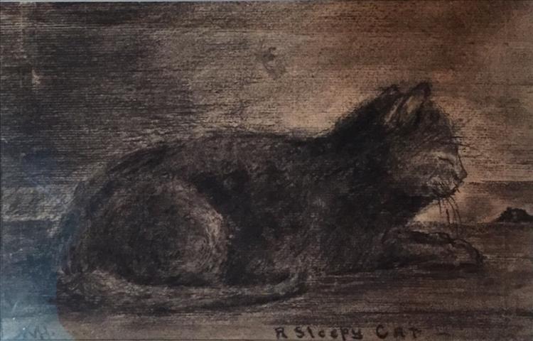 A Sleepy Cat_WM Hunt.JPG