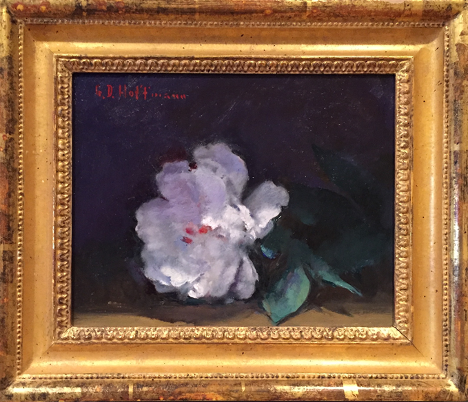 White Peony, Oil on Canvas