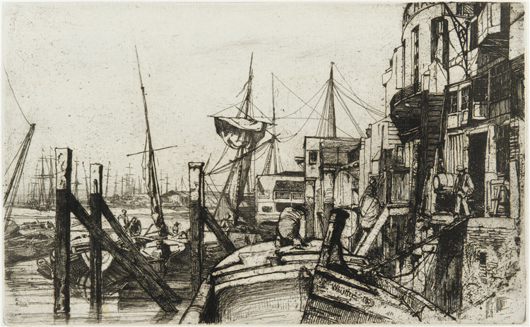 Limehouse, Etching on Paper