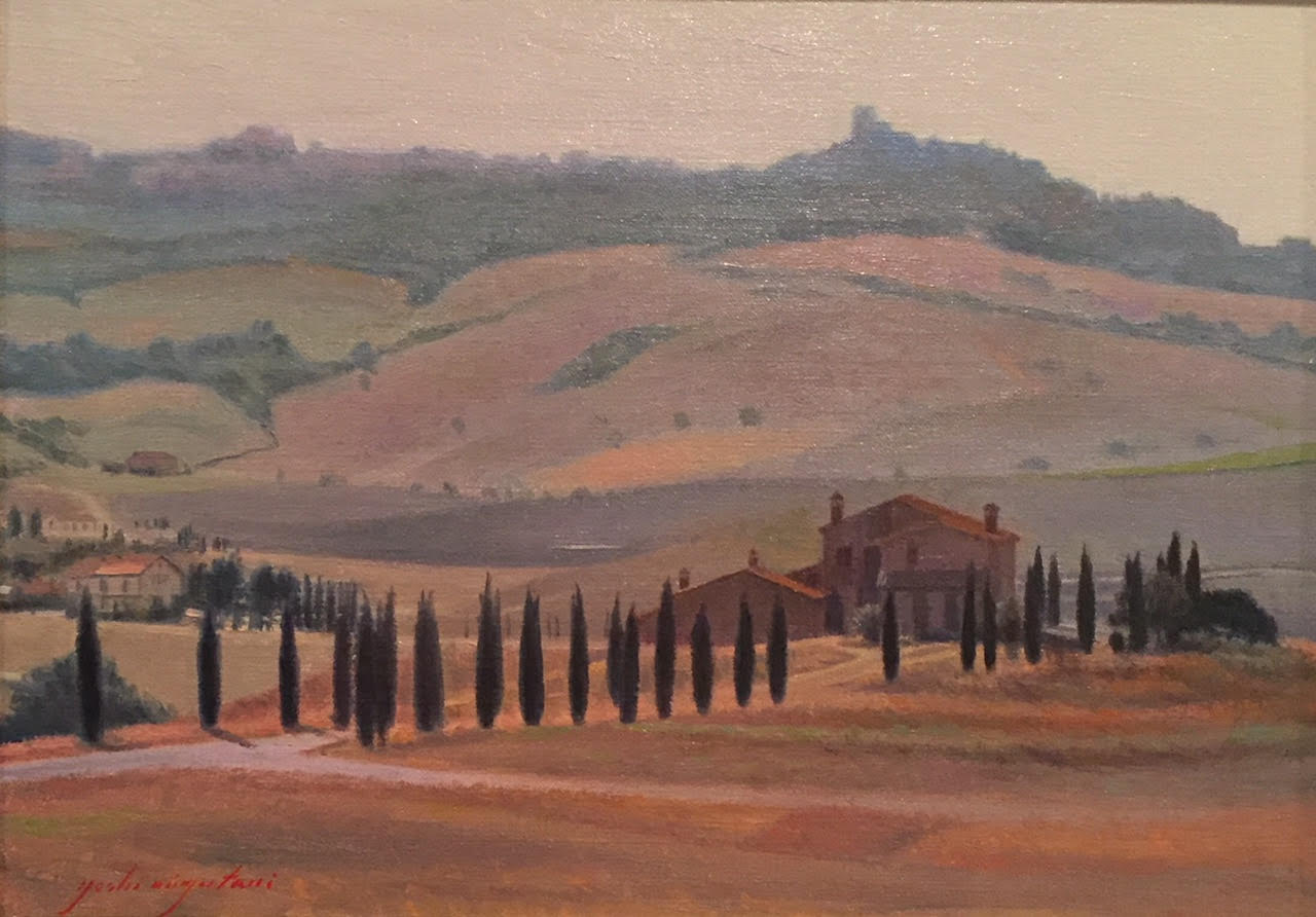 Overcast, Tuscan Landscape, Val d'Orcia