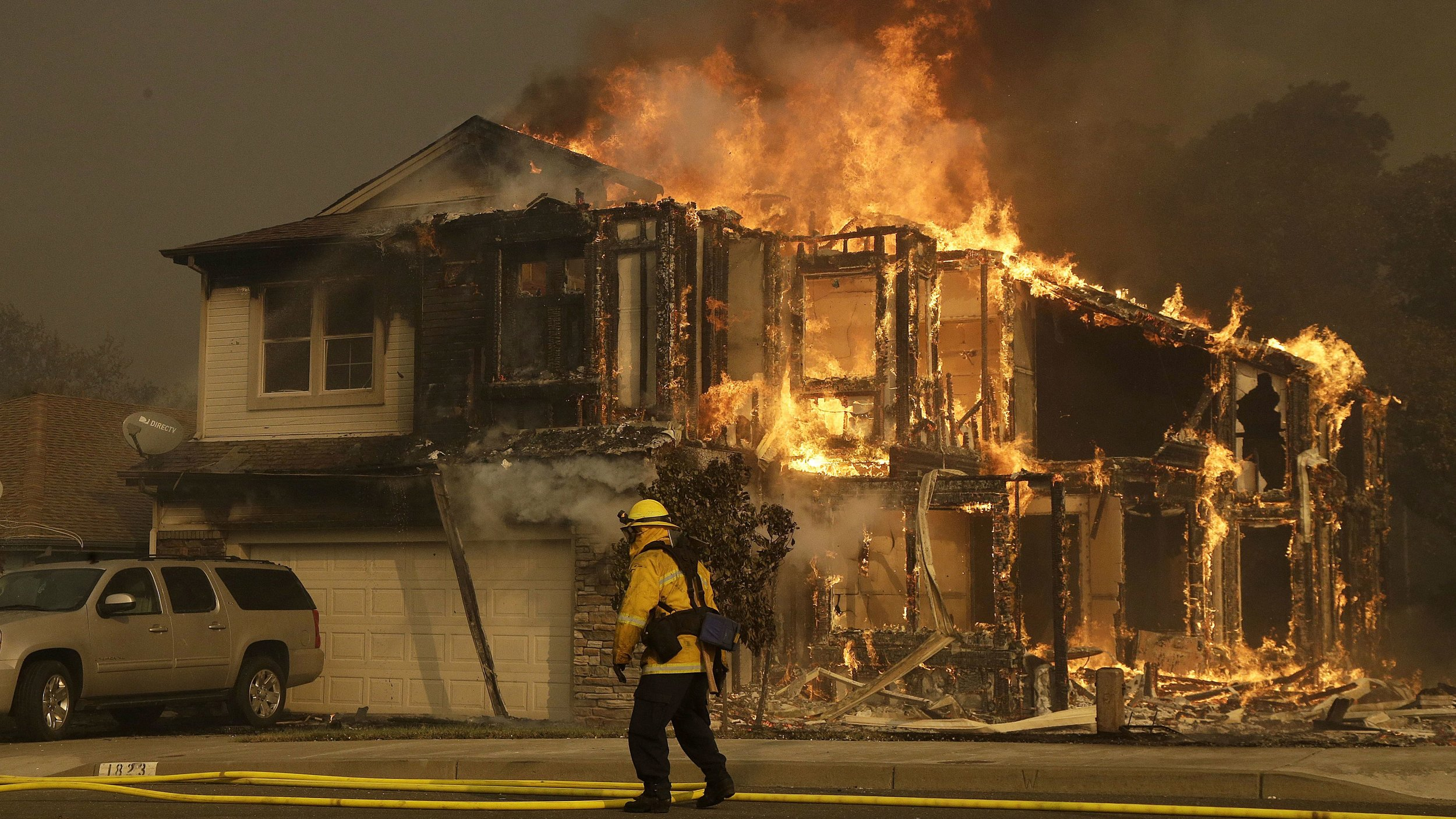 More than a dozen wildfires burning across Northern California have destroyed at least 5,700 structures.