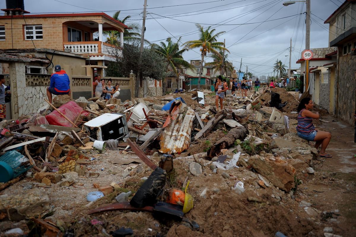 Residents witness Hurricane Irma damage in the Florida Keys.
