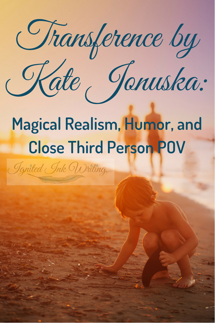 Often literary and genre fiction are at odds, but in Transference Kate Jonuska brings the two together through an extremely close third person point of view, snarky humor, and inner character conflict. You can learn how to blend styles by reading books like Transference.  For a chart comparing the different points of view, go to  https://www.ignitedinkwriting.com/point-of-view-chart