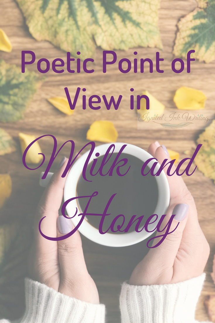 If you want to take your readers on an emotional journey and focus on the internal conflicts of your characters, read Milk and Honey. Rupi Kaur uses the hurting, the loving, the breaking, and the healing of her life to create an emotional story arc in her poetry collection. She brings emotional truths to the forefront of her text. For a chart comparing different points of view, go to  https://www.ignitedinkwriting.com/point-of-view-chart