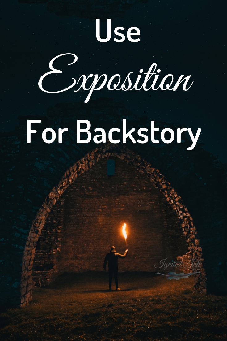 Usually writers are told to show don't tell, but if they followed that advice to the letter, stories would be filled with boring scenes to show time passing or backstory. Sometimes a direct line of exposition is the best choice. Learn when to tell don't show.