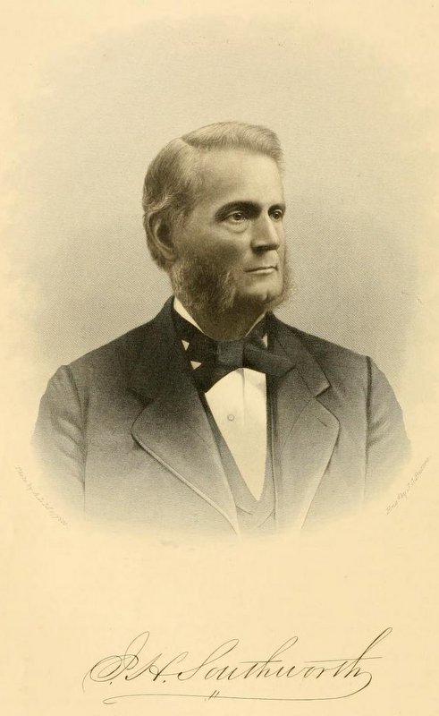John H. Southworth - John Hayward Southworth donated the funds to build Old Southworth Library, in honor and memory of his father, Deacon John Southworth, in 1888.