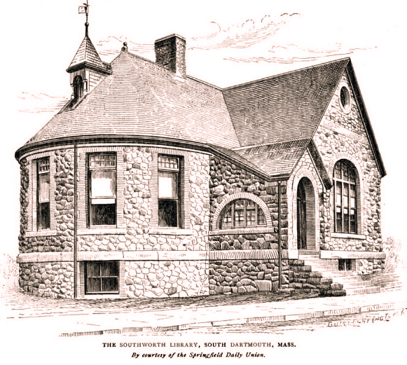 Southworth Library - A drawing from the Springfield Daily Voice.