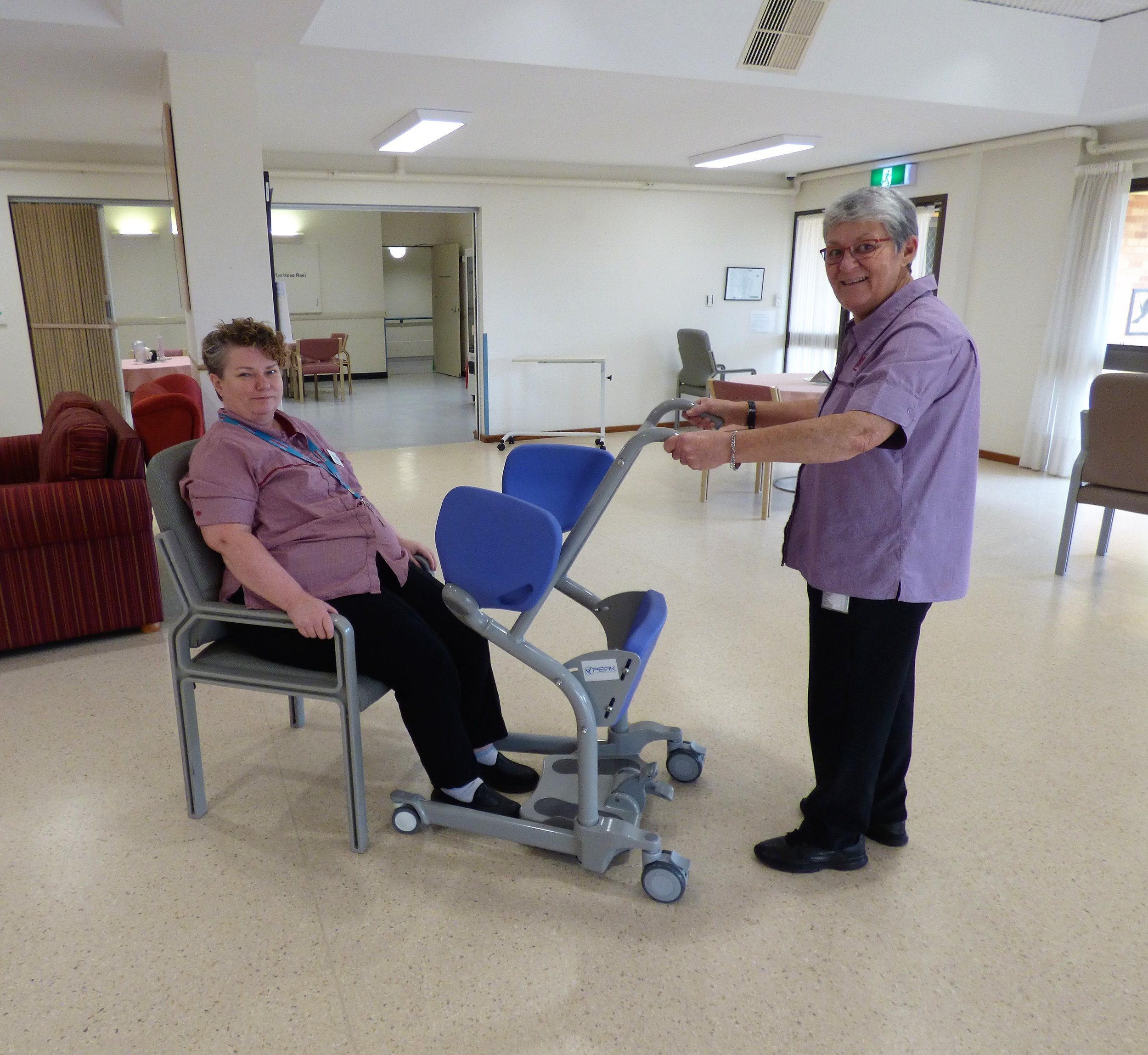 LHOC transfer assist trolley trial with Tina and Cheryl.jpg