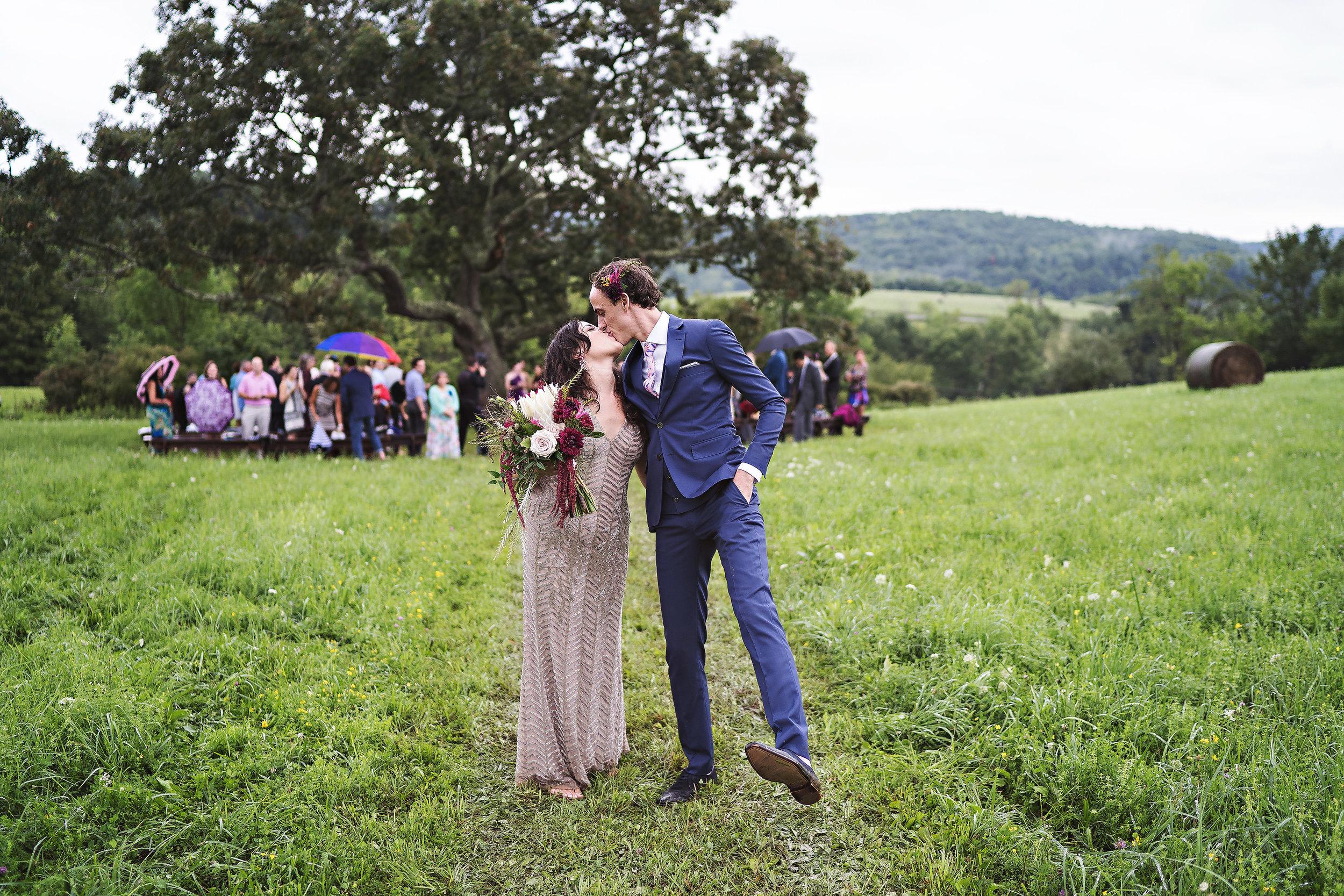 upstate New York rainy wedding