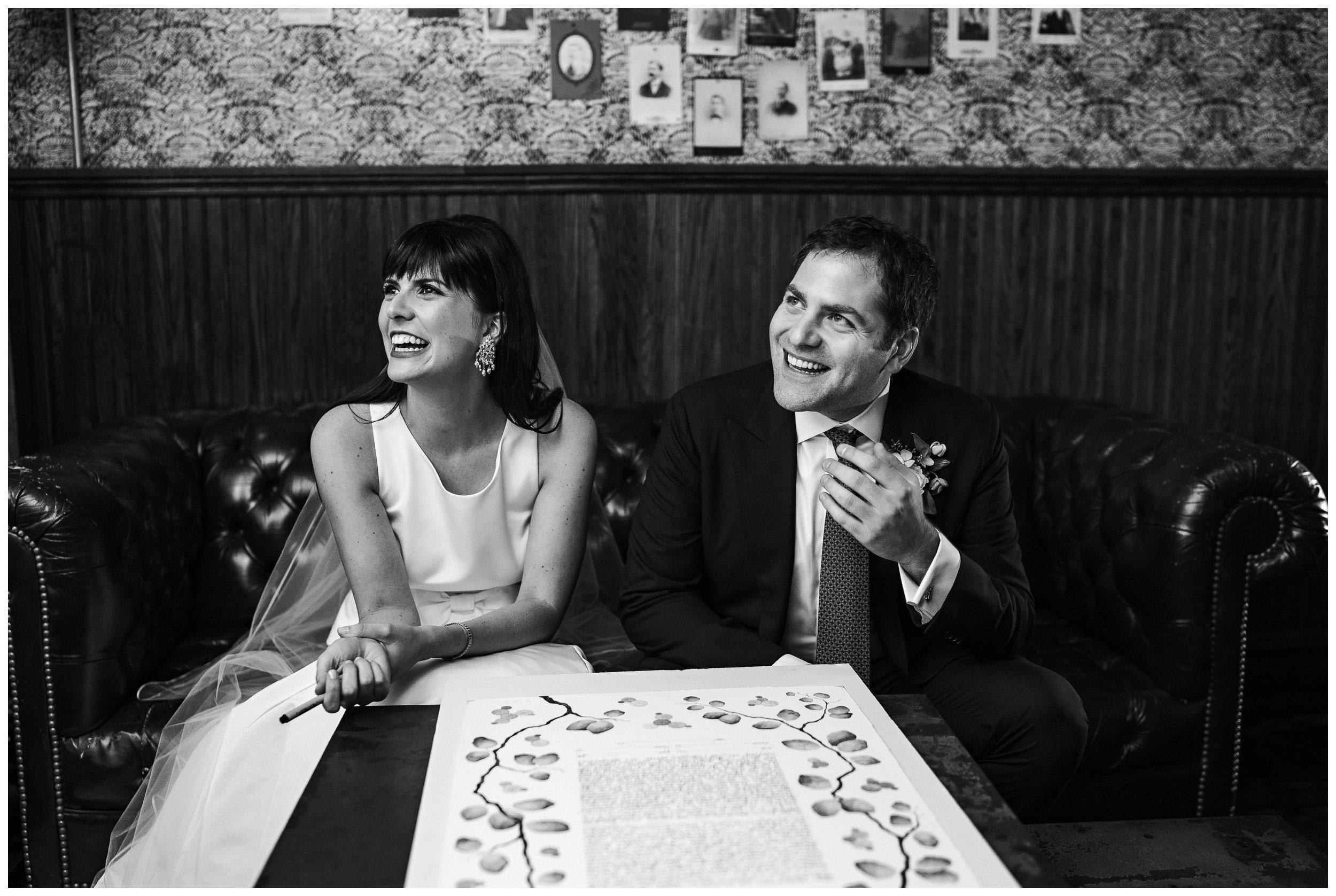 brooklyn winery wedding ketubah signing