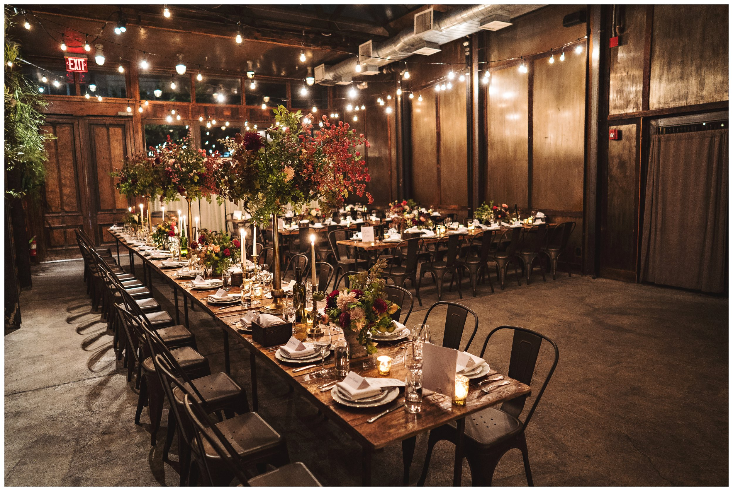 brooklyn winery wedding reception centerpieces