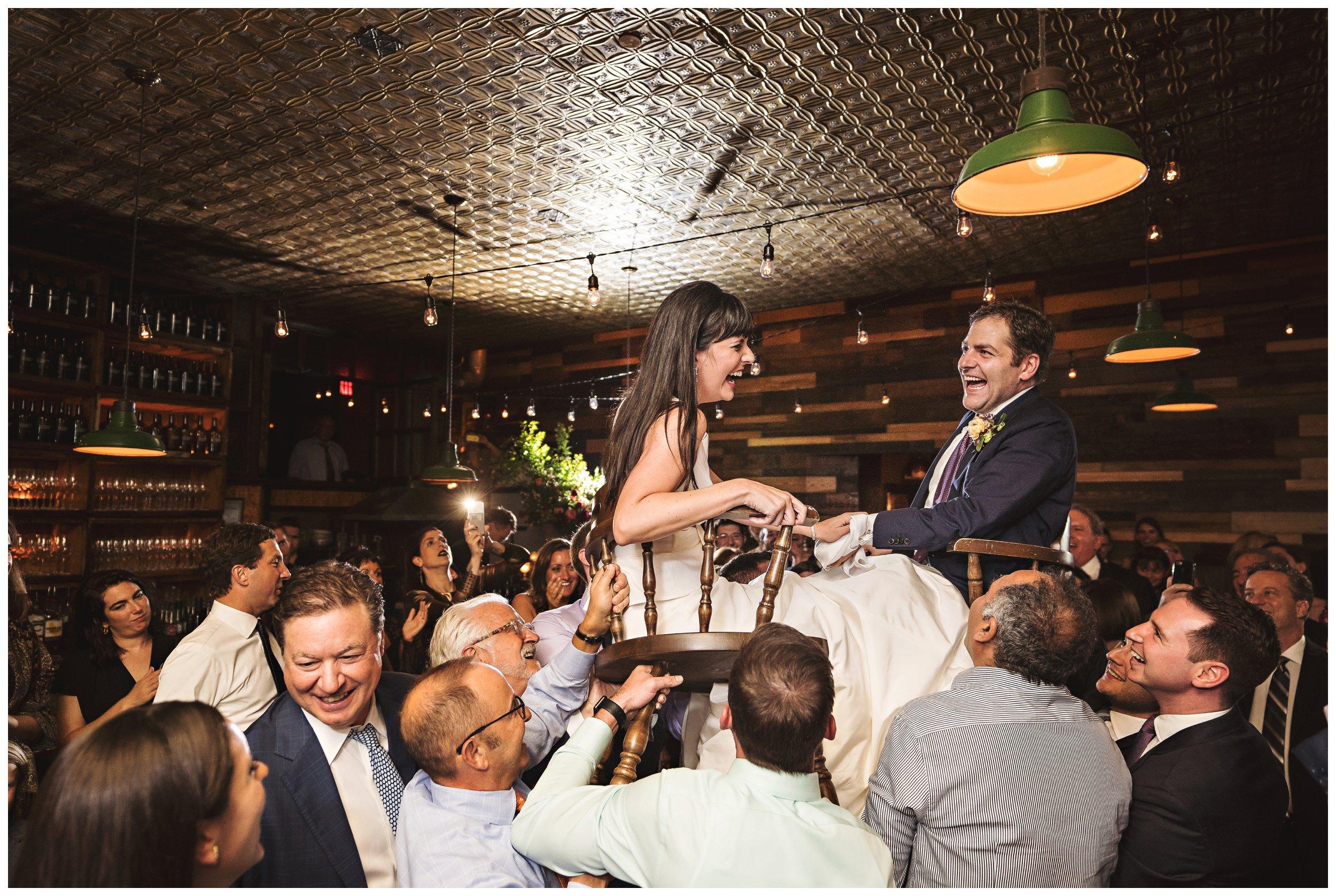 brooklyn winery wedding reception hora