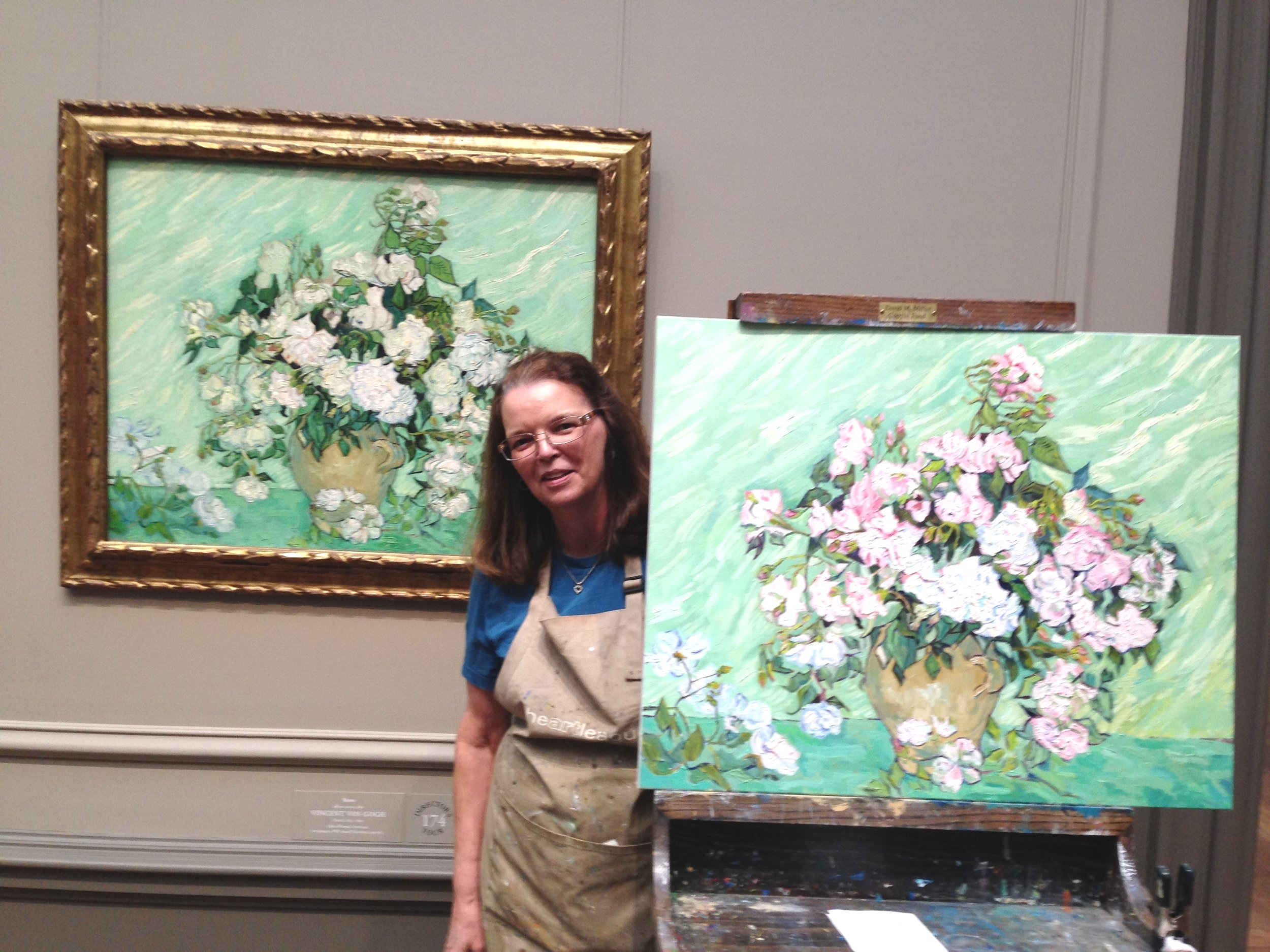 Copy of Van Gogh's Roses in progress