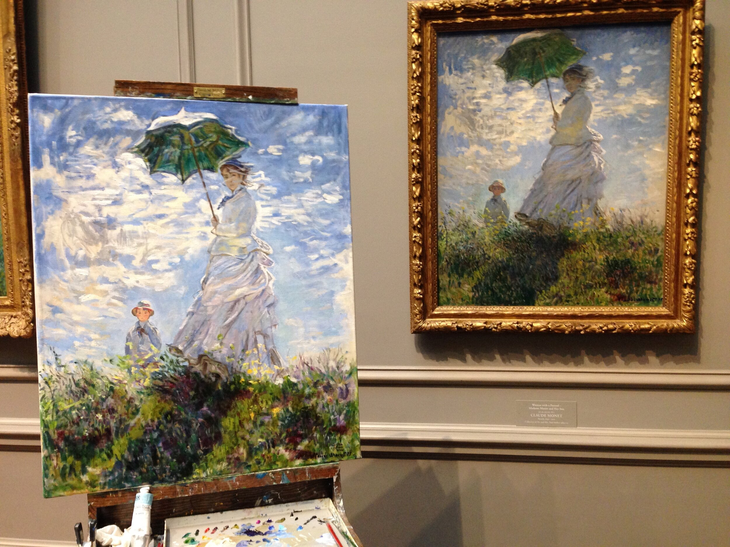 Copy of Monet's Woman with a Parasol