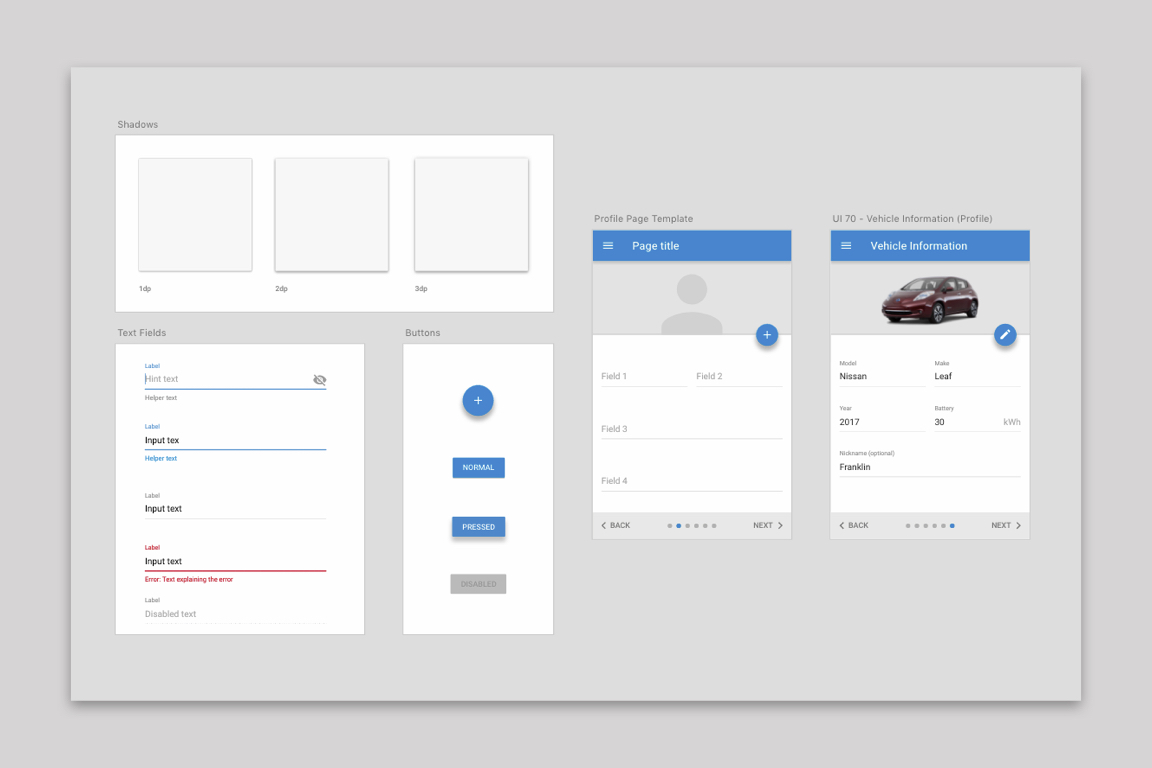 Creating a uniform experience - Created interface design standards at the company based on Google's Material Design Language, one of the most widely recognized standards on the web, to enhance usability.
