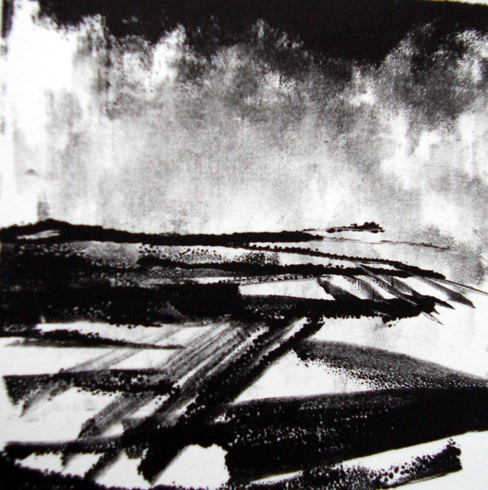 Andrew Dalton   Andrew works from his small print workshop in Thirsk, North Yorkshire, discovering new approaches to expressing his fascination with black and white and its ability to convey a figurative or abstract representation of a personal narrative.