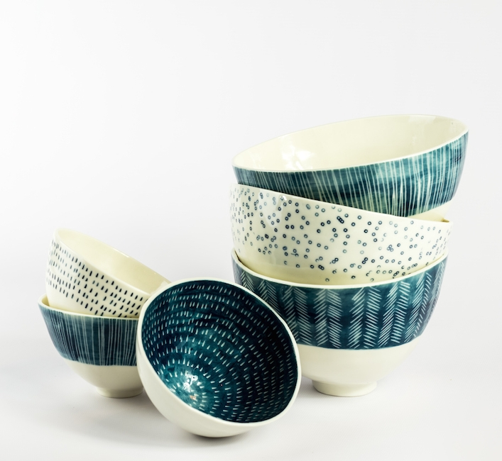 Charlotte Morrison   I'm a ceramicist from Masham in the Yorkshire Dales. I make hand-built ceramics using porcelain & stoneware clays, to create both functional & decorative items.  My work constantly reflects the past in some form; as i'm an avid collector of vintage items and has a fascination in researching times past. Recent work is decorated with symbolic pattern, mapping ancient roads, places & the surrounding Yorkshire landscape.
