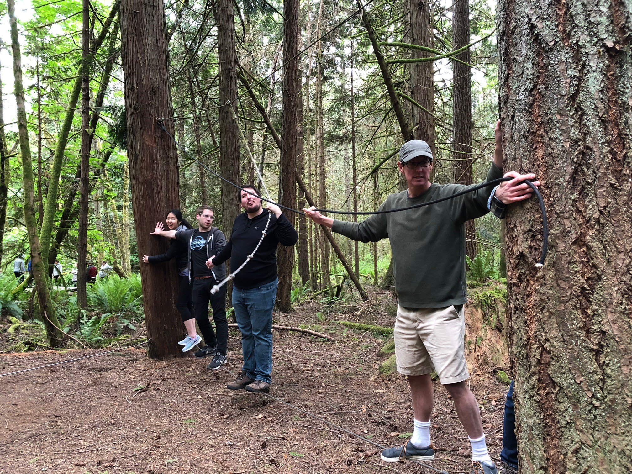 Almost done with the low ropes course