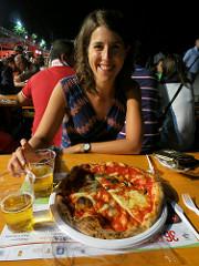 Claire loving life on the lungomare liberato in Naples.