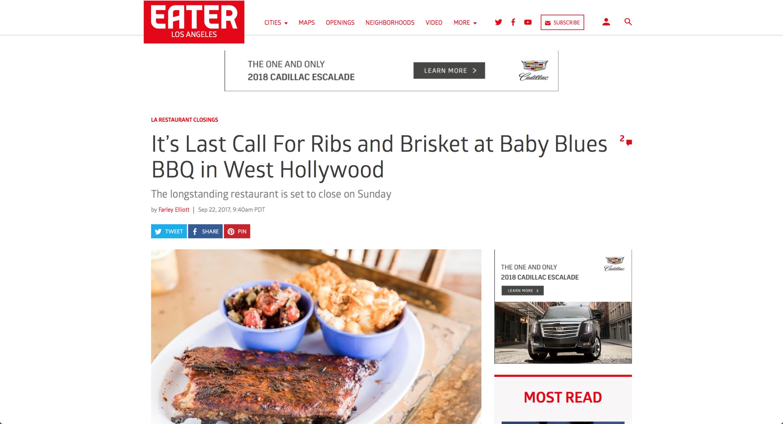 Eater LA - Baby Blues BBQ