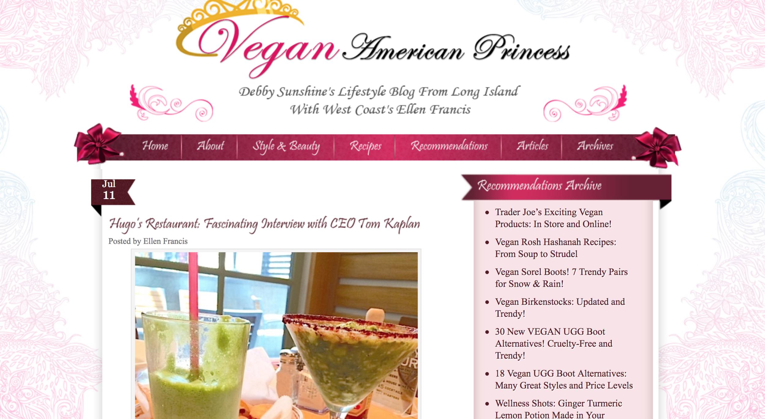 Vegan American Princess - Hugo's