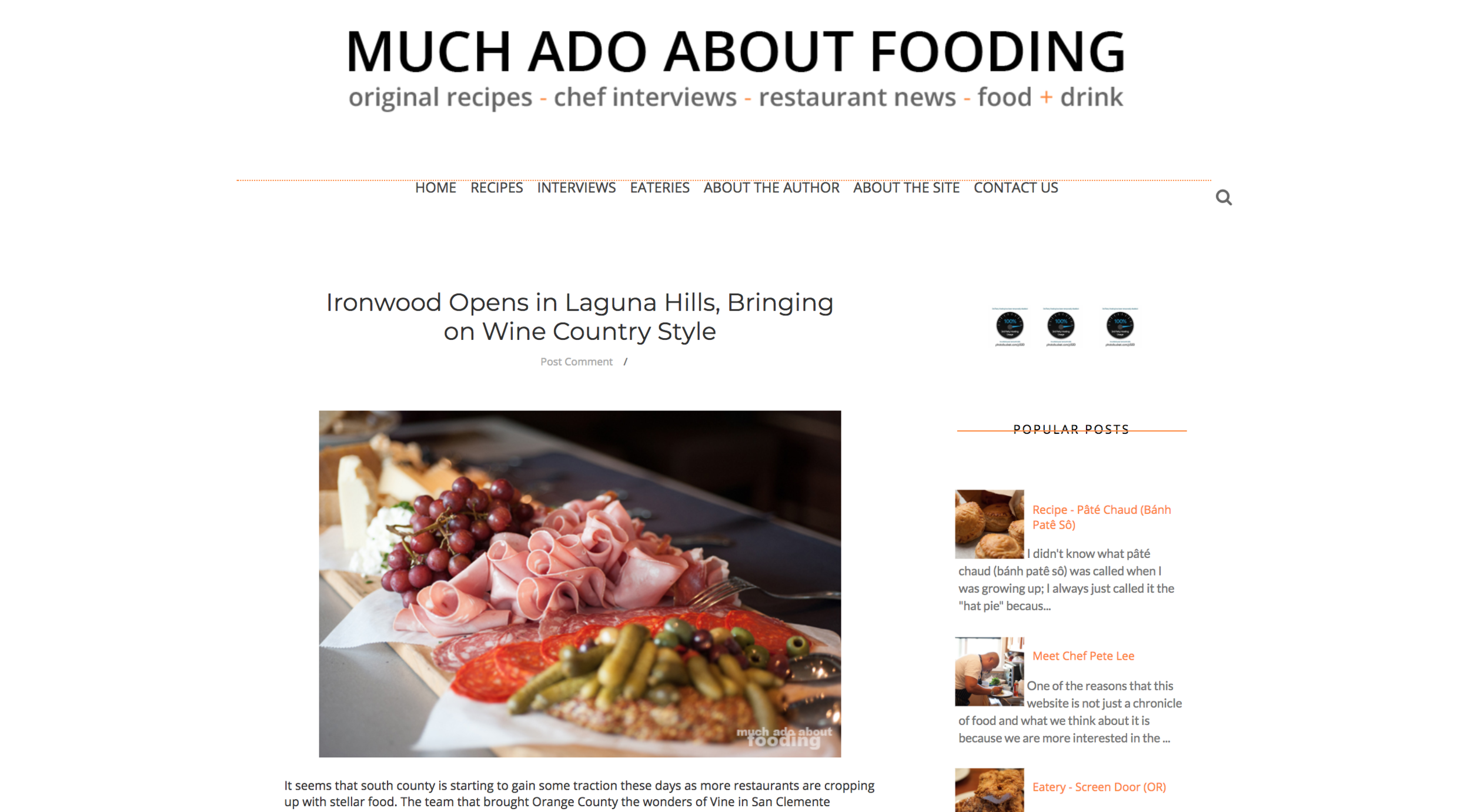 Much Ado About Fooding - Olea