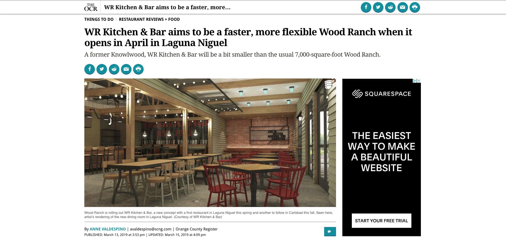 The OCR - WR Kitchen & Bar