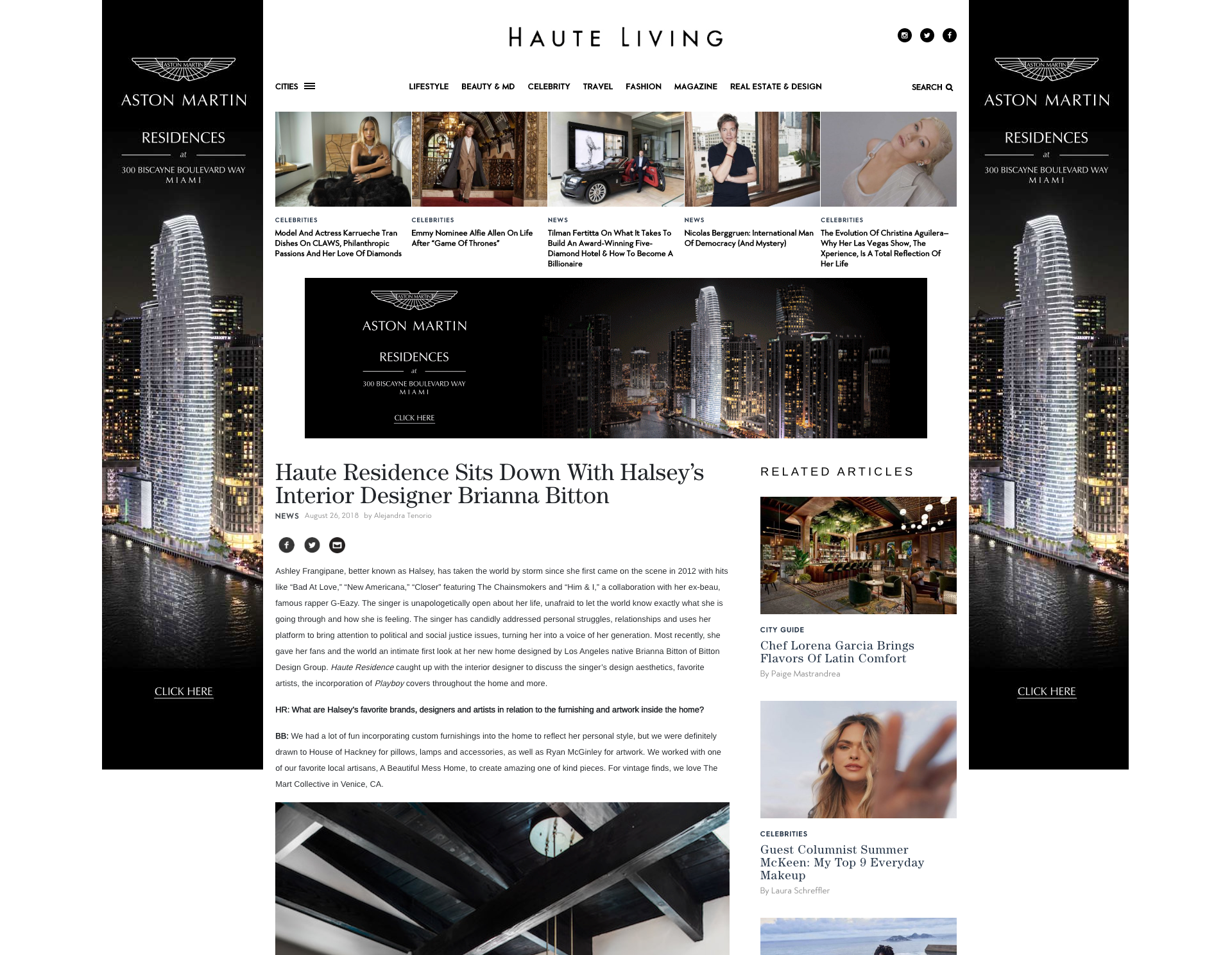 Haute Living - Hollywood Hills Residence