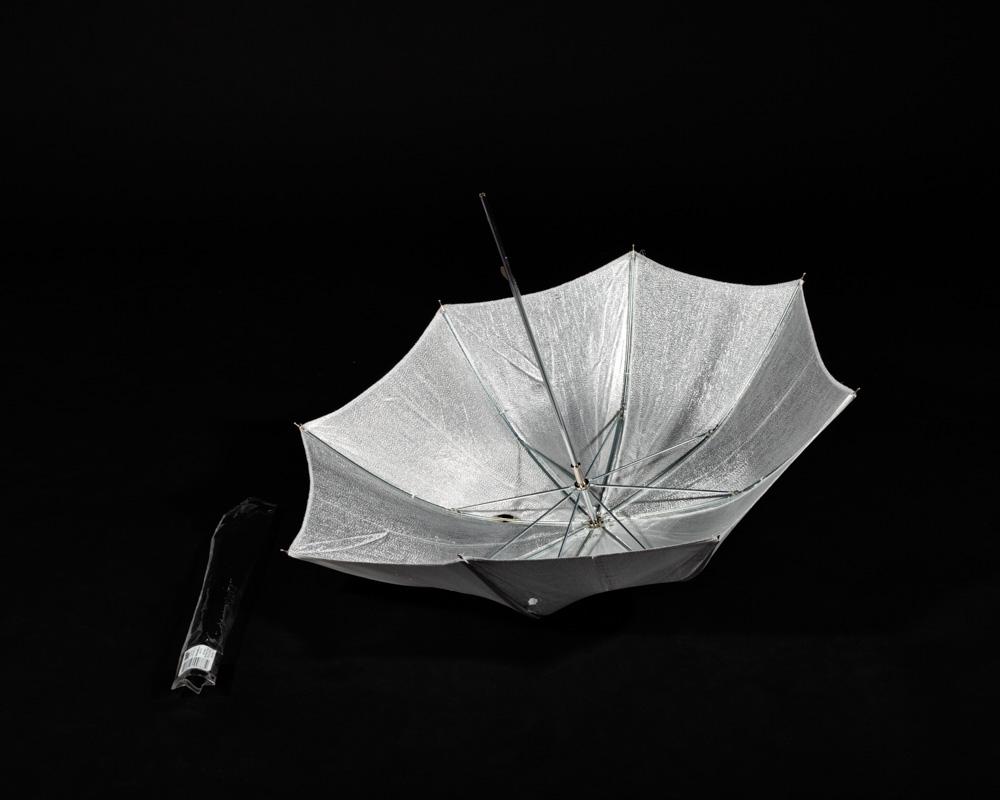 A silver Umbrella Reflector