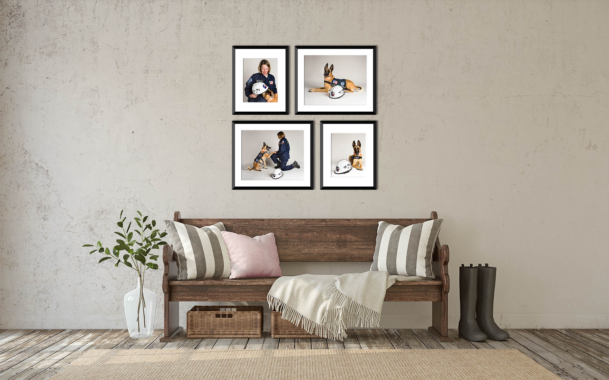 A Wall Art Grouping tells the story of you & your pet.