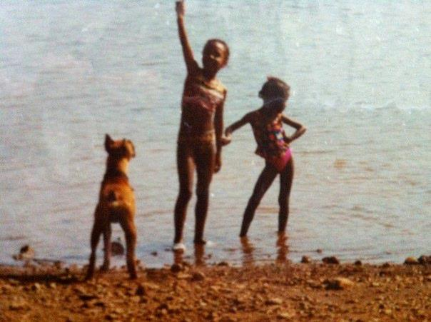 Rocky, Me, & Chiara on a family camping trip at Lake Lanier.