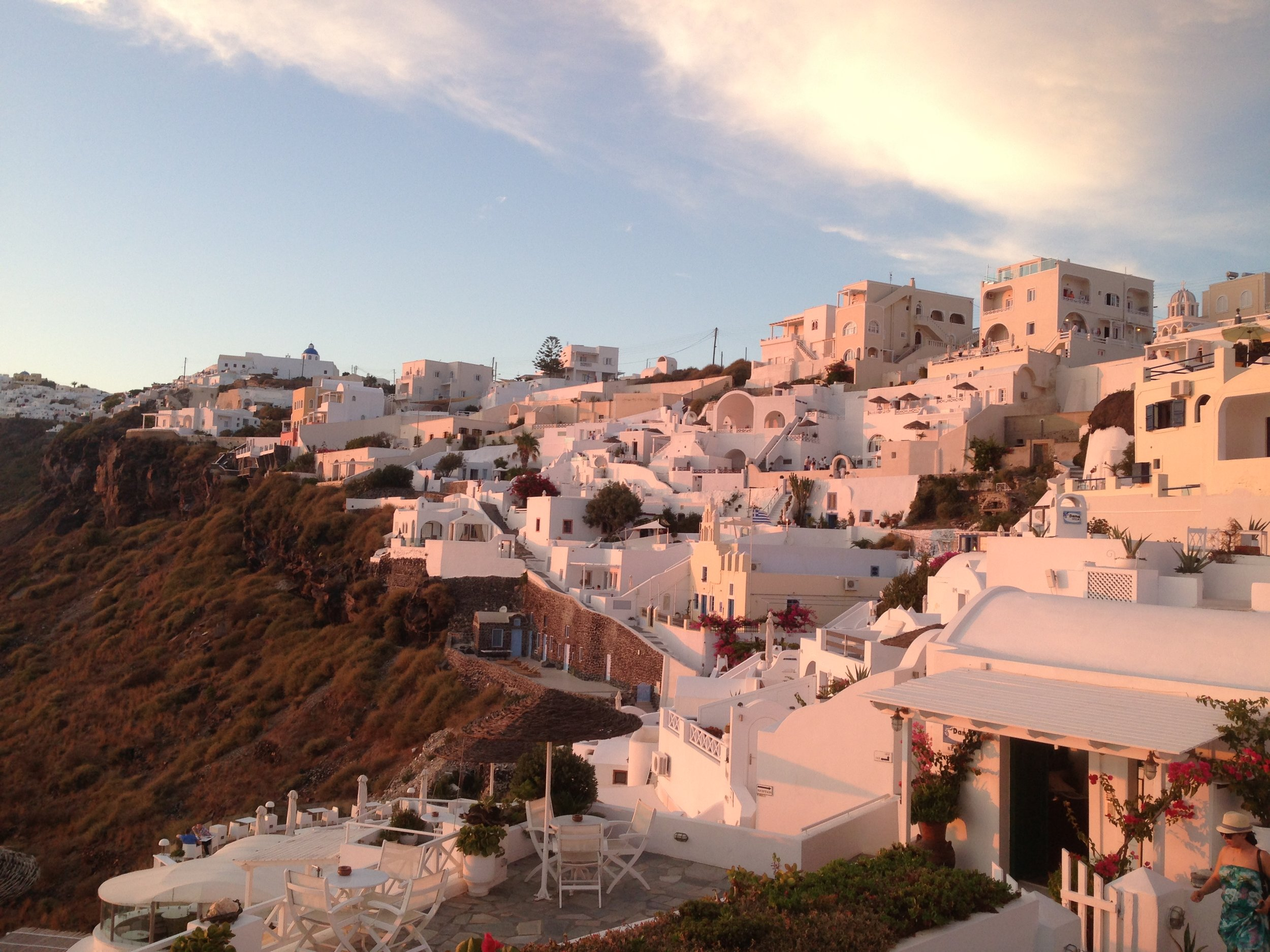 whitewashed towns of santorini