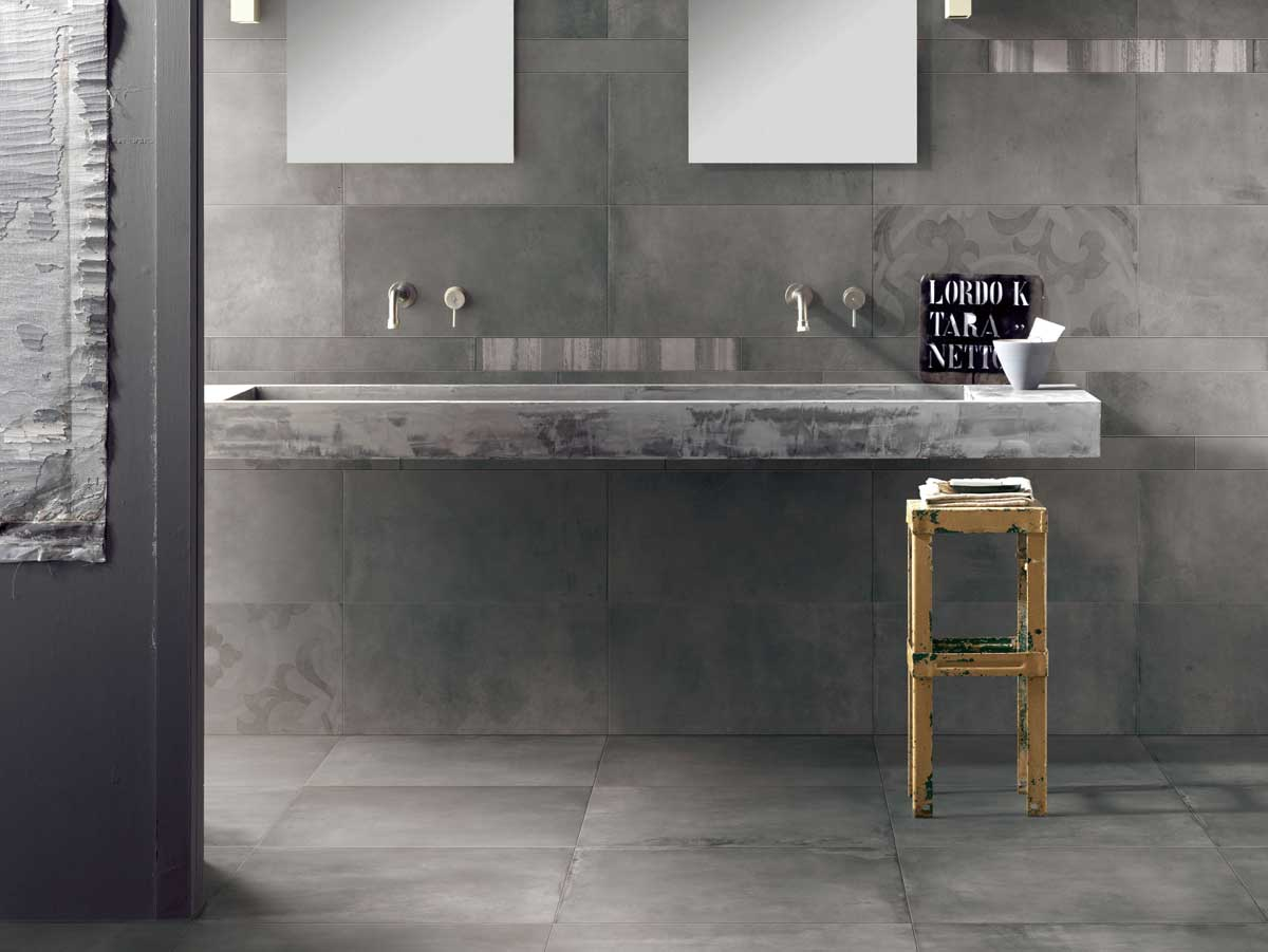Origin Range - Going back to its roots, the Origin range reflects the orginal look and feel of concrete. Soft and subtle colour variations provide a realistic and raw concrete material.Available in 4 colourways; White, Grey, Cotto and Charcoal. It is also available in 2 sizes; 600 x 600mm and 300 x 600mm.