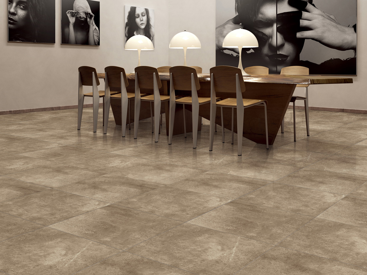 Roma Range - Moving away from the previous heavy pattern concrete look, the Roma series takes on a more simplistic, soft feel. The subtle concrete pattern allows the tile to blend with its surroundings.The Roma range is available in 4 colourways: Silver Grey, Mid Grey, Mocha and Charcoal.