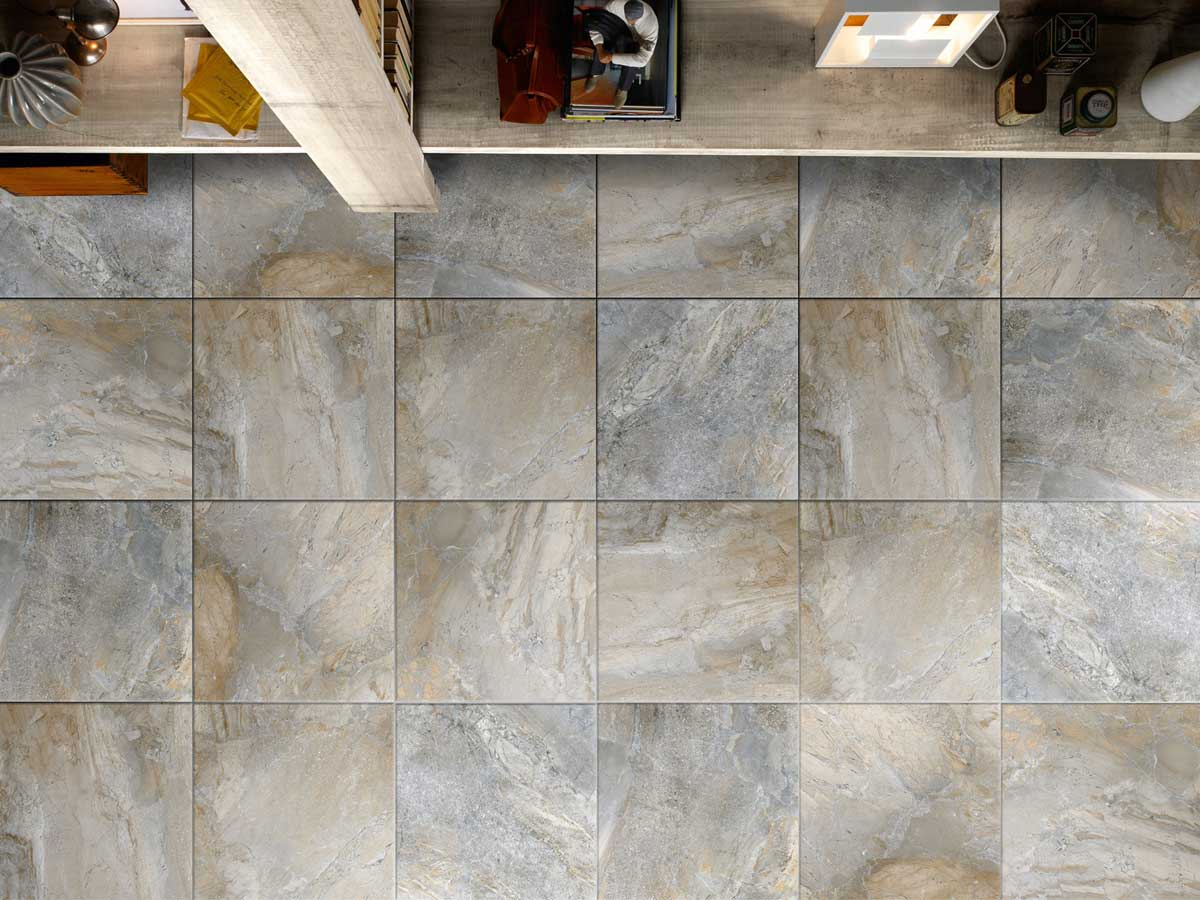 Livingstone Range - A highly variable print gives this tile a natural look without the expensive maintenance costs associated with natural stone.Available in 4 colourways: Ivory, Grey, Black and Supreme. Sizes/finishes: 300x300mm, 450x 450mm, 300x600mm, 600x600mm; Matt, External and Shine.