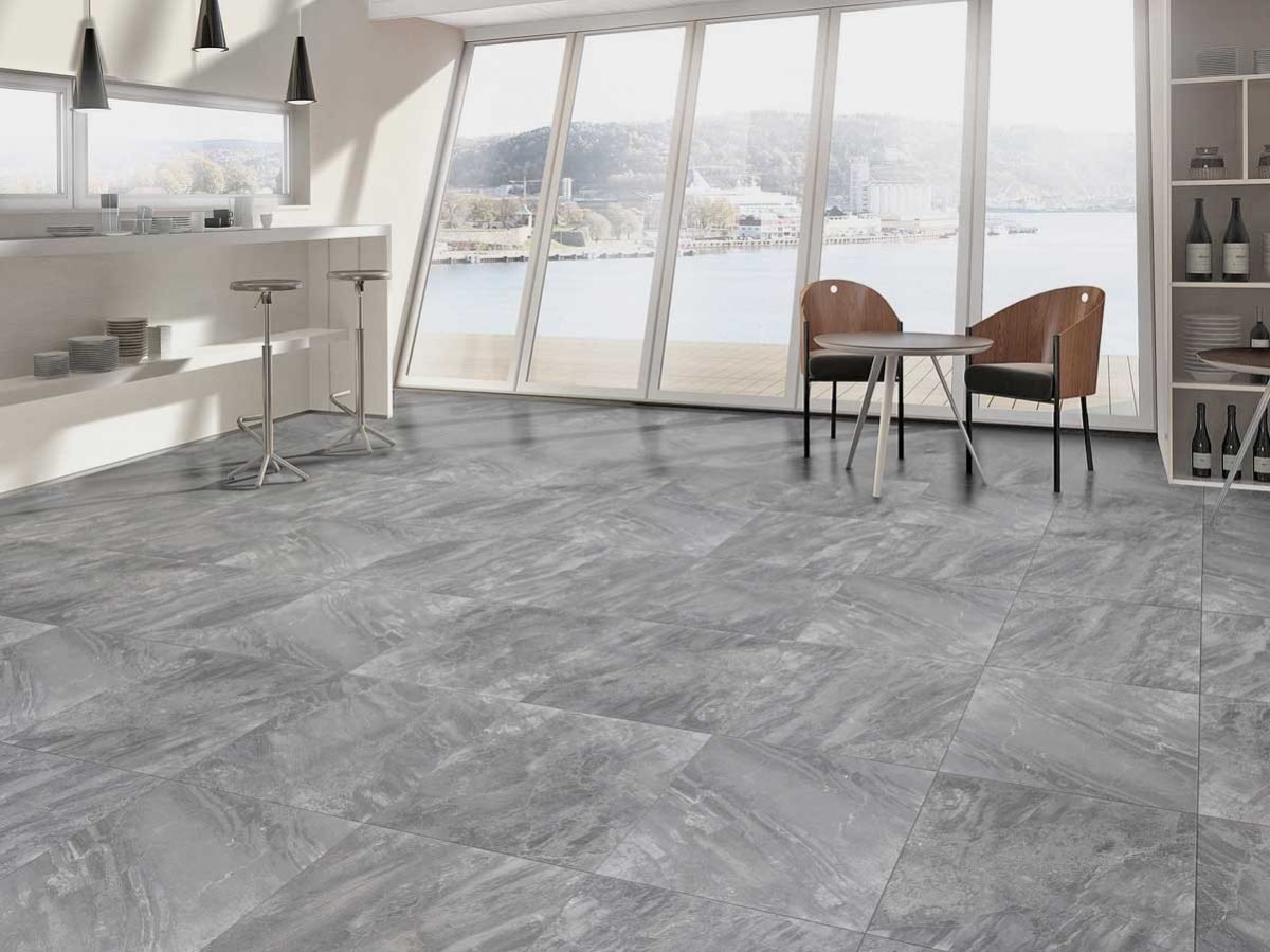 Dolomite Range - The inspiration for this range has been taken from the towering rock spires of the Dolomite Mountains of Italy. This series has a variable print design that creates a very natural look.Available in 2 colour: Ash and Grey; and available in 2 size formats: 450 x 450mm and 600x600mm.