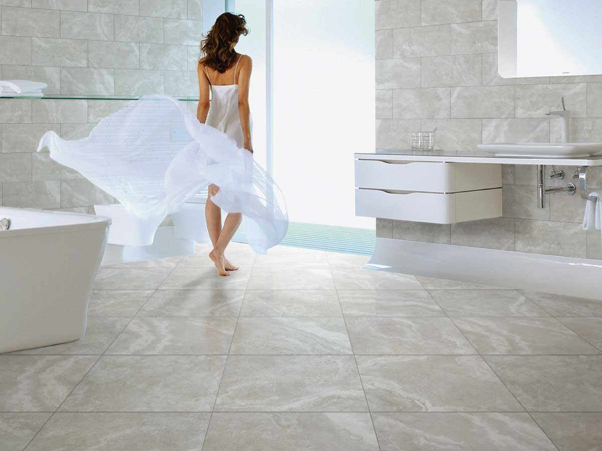 Crosscut Travertine - The Crosscut Travertine range is a soft, elegant, authentic stone look utilising the latest digitial ink jet technology. The design has been captured from actual natural crosscut travertine stone and reproduced in a very affordable porcelain tile format.The range is available in 2 colours: Ivory and Grey. Three finishes, Matt, Lapparto and External; 450 x 450mm.