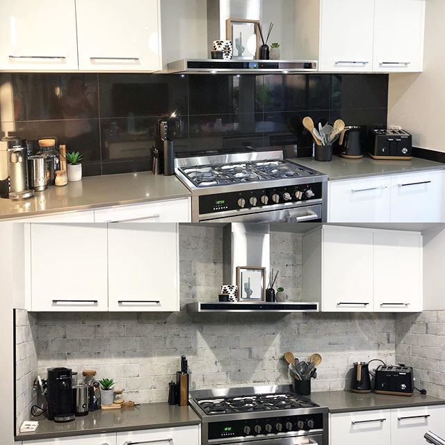 Happy Thursday!  How amazing is this splashback transformation!? Our client wanted to go for a lighter look to brighten up her kitchen, and doesn't it look fresh!!