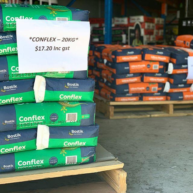 BOSTIK SALE!! We have Bostik products on sale in our trade store *** Conflex 20kg *** $17.20 inc GST *** Ultra Mastik 20kg *** $17.20 inc GST  Mention this post for free delivery within 10kms of our store. 👷🏼♂️🚛 #bostik #tiling #tileshop #elitetradesupplies #keepitelite #elitetiling #sunshinecoast