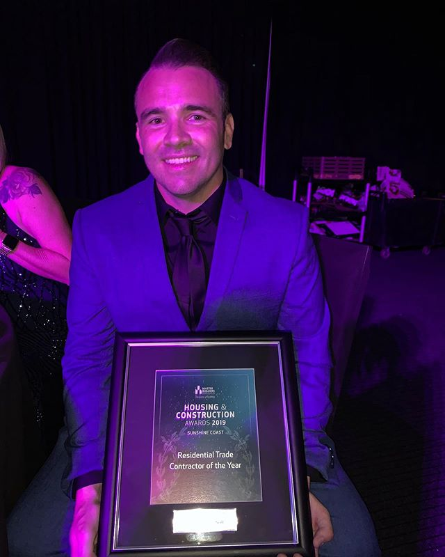Last night I was lucky enough to take home the Master Builders Queensland, Residential Trade Contractor of the Year Award for the Sunshine Coast.  I am so grateful for this achievement and it wouldn't have been possible without the ongoing support of my beautiful family, amazing friends, and a great network of men and women in the industry.  It's an honour to be recognised, and just gives me more inspiration to continue the great work we do, and even more!  This is just the beginning 🖤  KEEP IT ELITE!!!