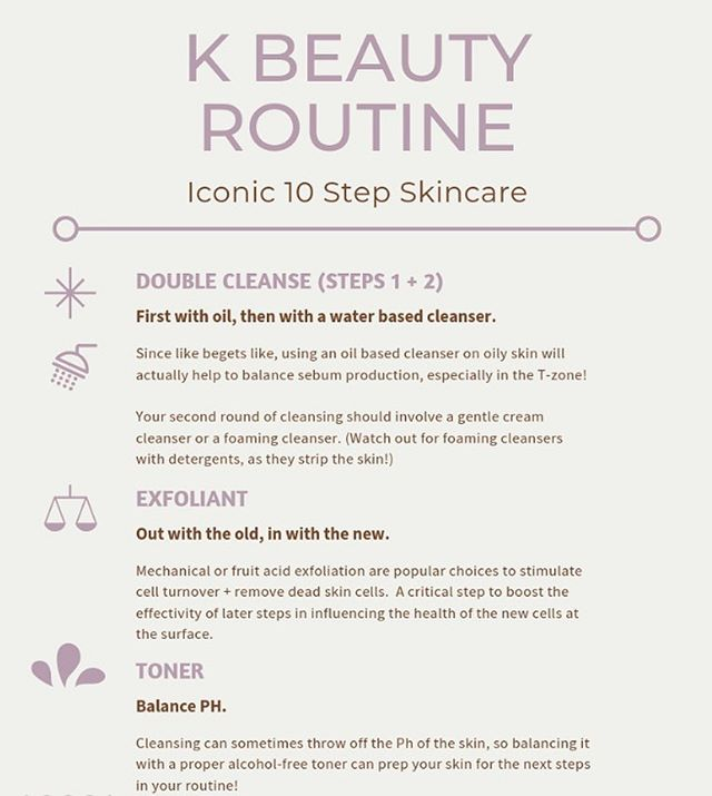 [Korean Beauty]: famous for the 10 step skincare routine!✨ . Here are some supporting tips when you navigate the creation of your ritual.💙 . From choosing non-stripping foaming cleansers, to alcohol-free sheet masks + learning about selecting essences... K Beauty might seem slightly overwhelming at first. No worries though bc I gotchu😘 . BUT before you go adding in all these steps.... pump the breaks sis. It's best to incorporate 1 or 2 new products at a time so you can notice how your skin reacts👍🏼 . Oh, + can we squash the ultra heavy eye creams while we are at it? It just causes more tugging around the eye during application + most on the popular market are so, SO occlusive, it's just not necessary on such fragile, thin skin!✨ . Content like this is usually exclusive to my newsletter club only. DM me if you want a link to join 💫 #kbeauty #koreanbeauty #kbeautyroutine #10stepskincare #skincareroutine #skincareritual #consistency #skinessence #skincarecommunity #doublecleanse #oilcleansing #amethystmask #latenightbeauty #detoxshop
