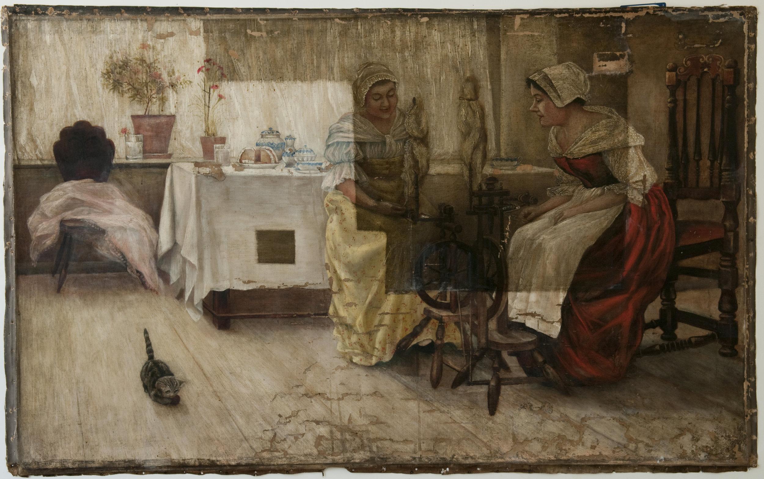 paintings of ladies and kitten.jpg