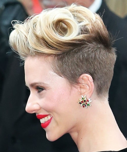 Scarlett Johansson  with side shave