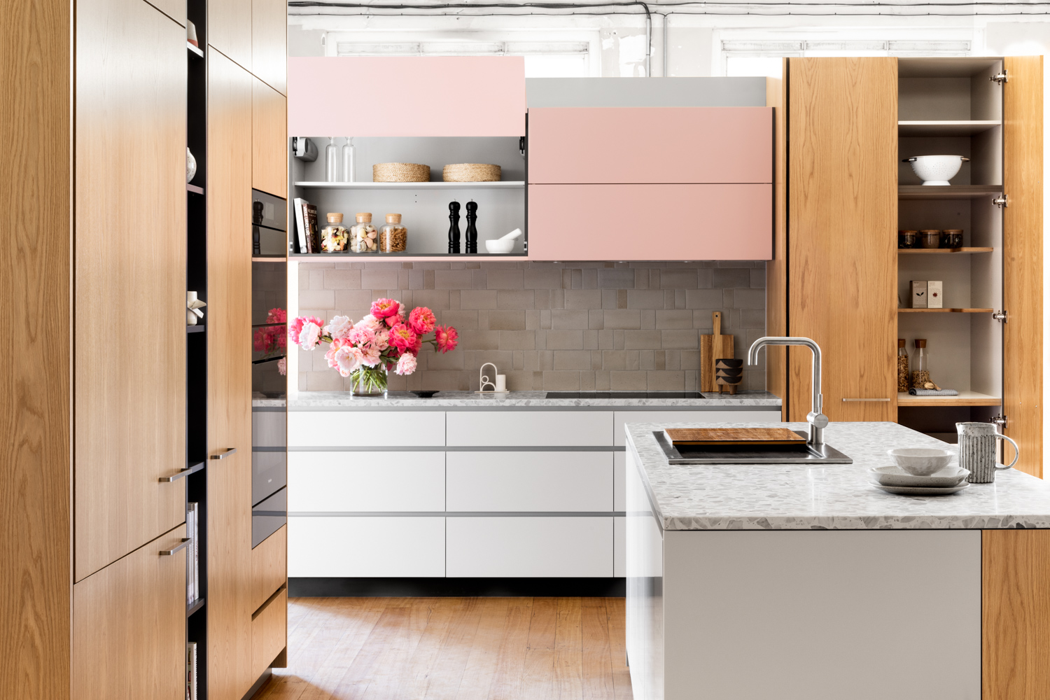 Kitchen & Sink by Cantilever, Tiles by Anchor Ceramics, Tap by Sussex Taps, Terrazzo benchtop from Signorino   Photo: Martina Gemmola