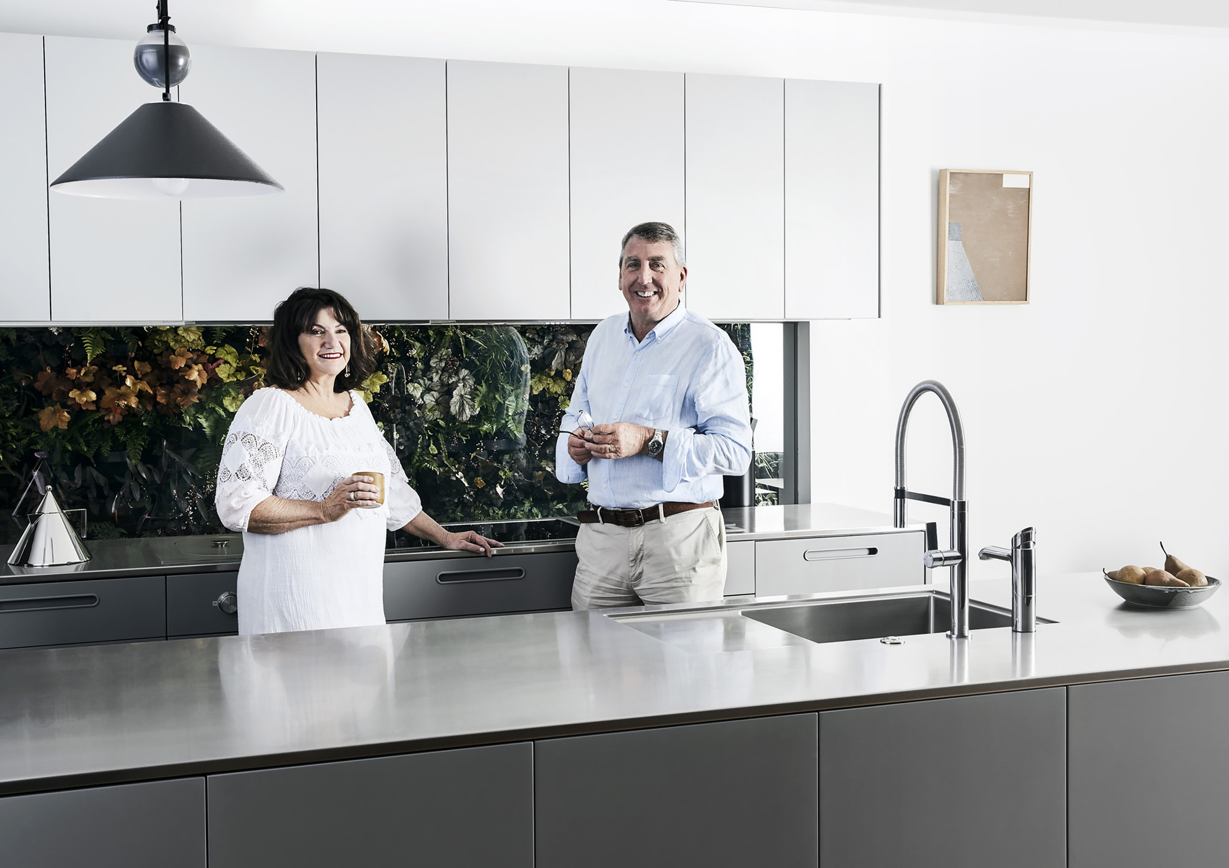 Pauline and Ross Troon at home in their new Tableau Kitchen